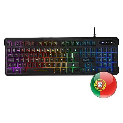 Mars Gaming MK218 - Teclado H-Mechanical Red con iluminación RGB 9 Efectos, Layout