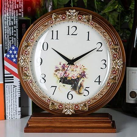 GongDi Reloj de Mesa Cerradura Cuarto Silencio Simple Dormitorio ...