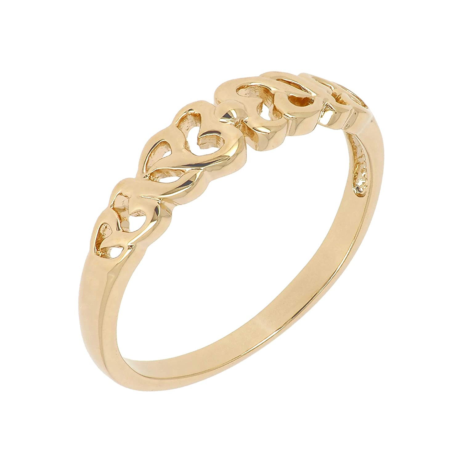 Ring YOU /& ME Zirconium Gold plated 18K 750//000 5 Microns Jewelry Women