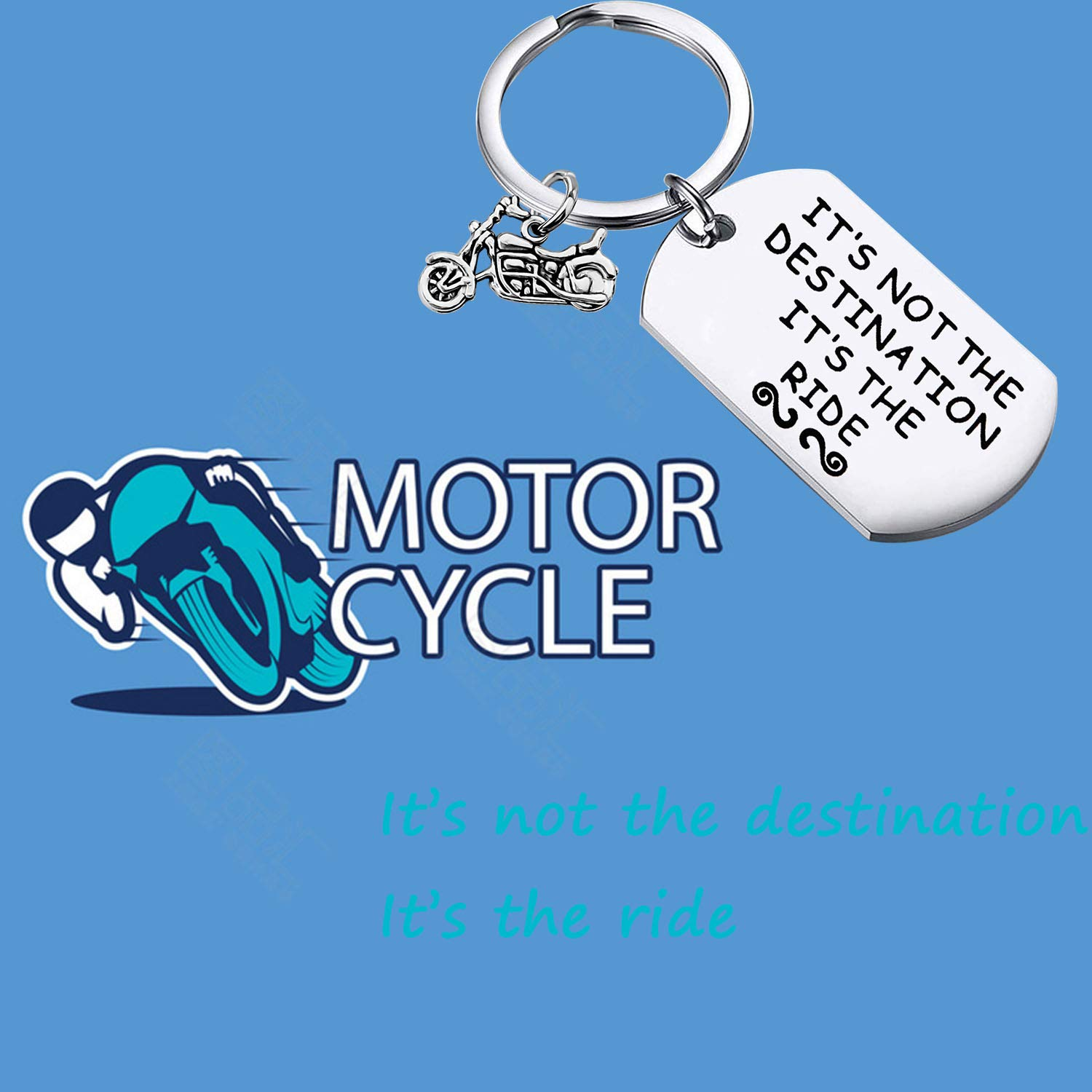 MAOFAED Biker Gift Motocycle Keychain Motorcycle Birthday Gift Stocking Stuffer Biker Chick Gift