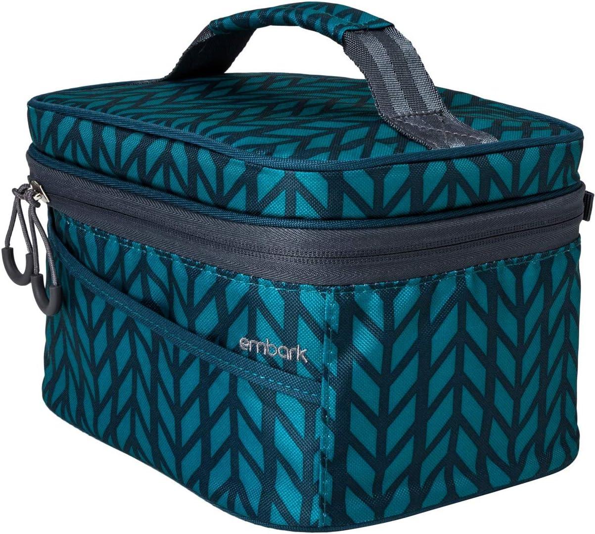 Embark Personal Lunch Bag Herringbone Print
