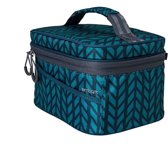 Embark Personal Lunch Bag Herringbone Print