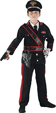 Vestito Carabiniere Bambino.Costume Da Carabiniere Per Bambino 9 A 10 Ans Amazon It Giochi E Giocattoli