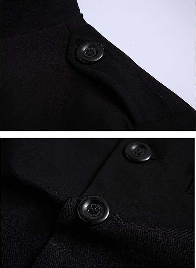 Nidicus Men Winter Thick Military Pea Coat Single Breasted Wool Long Jacket