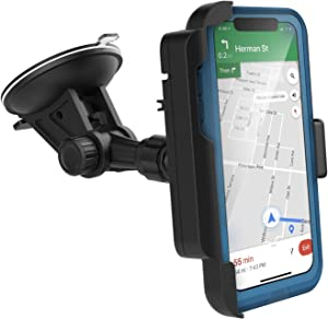 Encased Car Mount for Lifeproof Fre Case iPhone X/Xs - Fully Adjustable Vehicle Dock, Windshield & Dashboard Compatible
