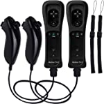 TechKen 2 Sets Wii Remote Controller with Build-in Motion Sensor Plus