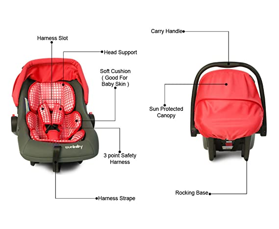 Sunbaby Car Seat Bubble (Gray/Red)