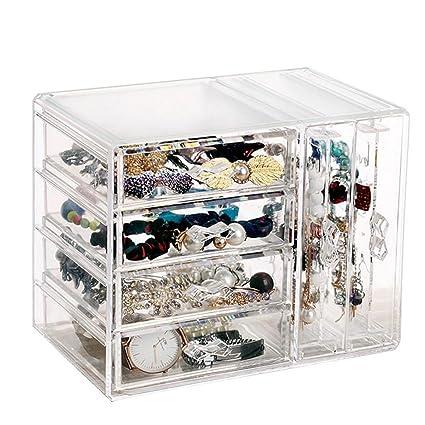 Color Transparente Tipo de cajón Caja de Almacenamiento ...