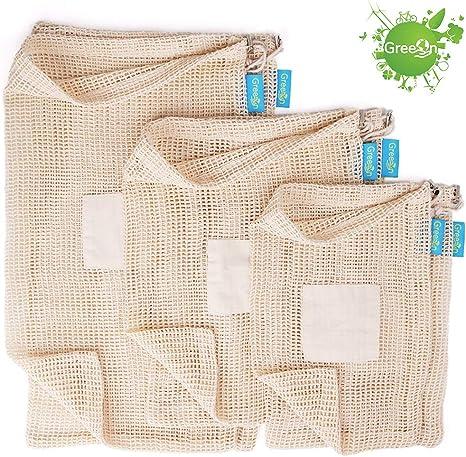 Mesh Produce Bag Bulk Food Bag Mesh Shopping Bag Zero Waste Bag Reusable Produce Bag Food Safe Vegetable Bag Mesh Market Bag