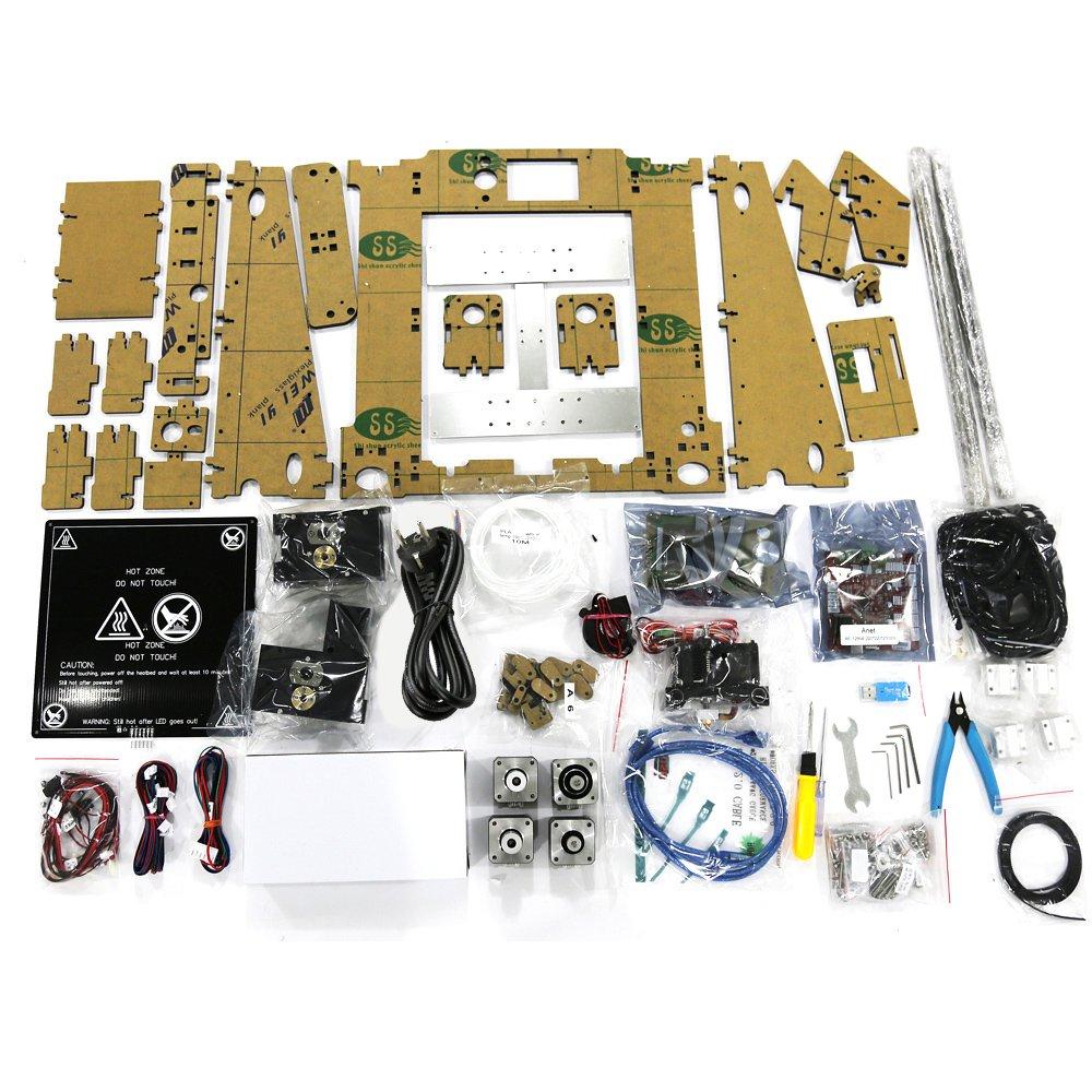 250 mm DIY Reprap i3 con 16 GB SD tarjeta 12864 LCD pantalla Anet A6 3d impresora Kits 220 220
