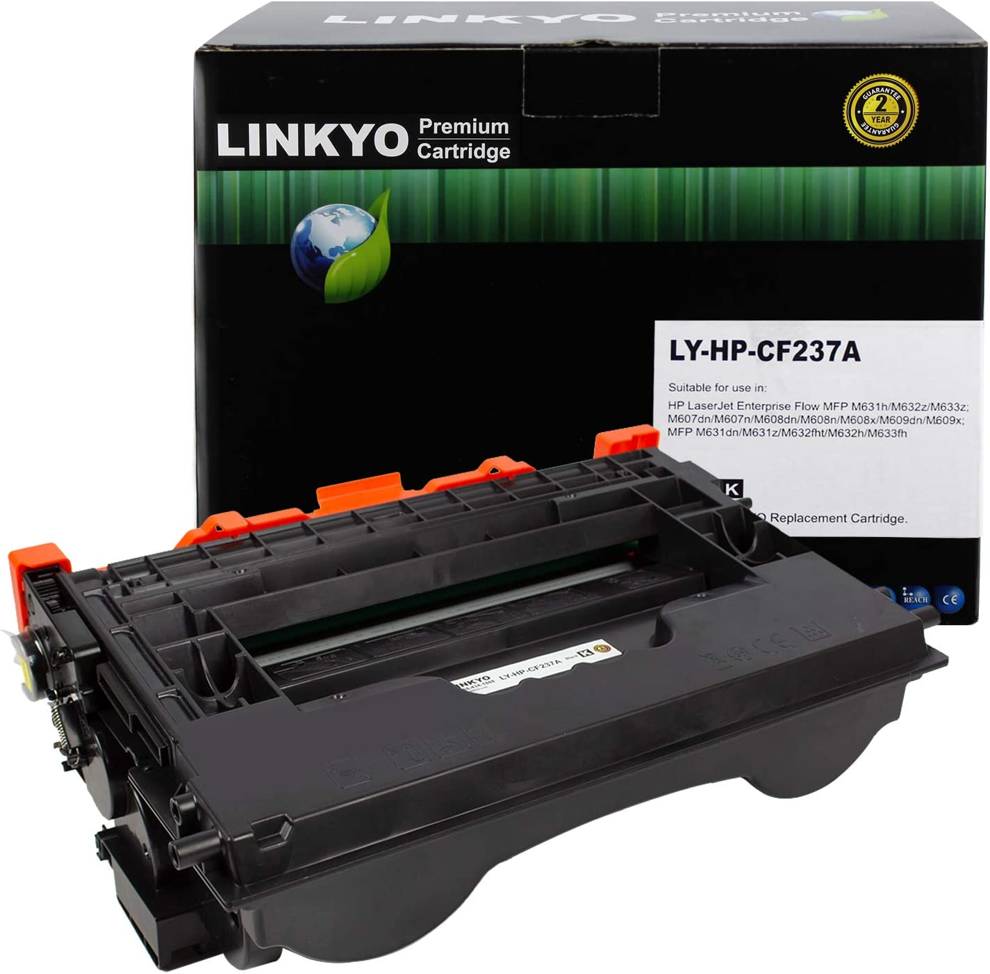 LINKYO Compatible Toner Cartridge Replacement for HP 37A CF237A (Black)