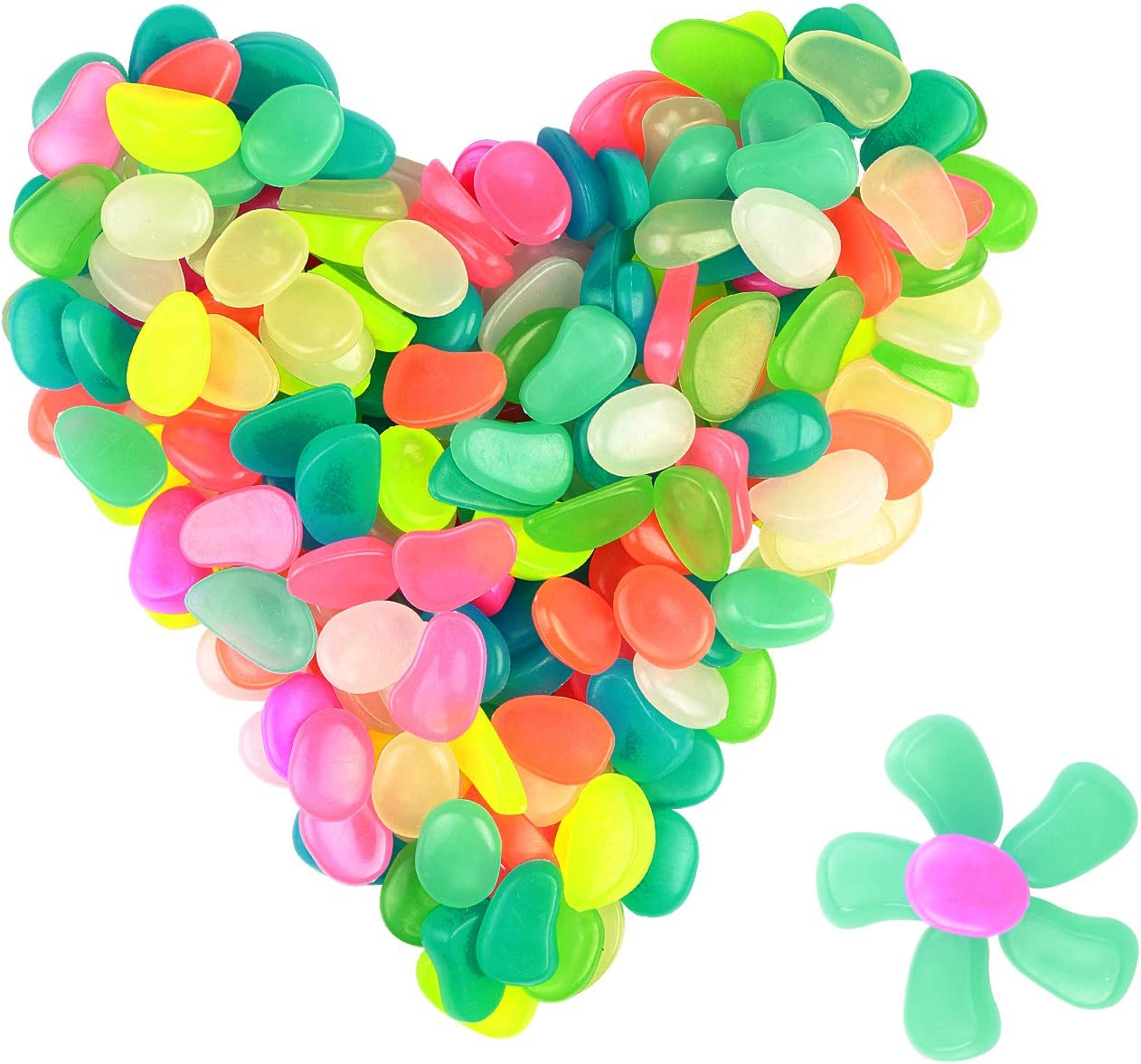 ZoomSky 200 pcs Piedras Luminosos Brillantes de Colores Diferentes (Colorido)