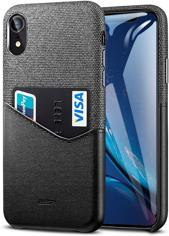 Amazon Com Esr Metro Wallet Case For Iphone Xr Soft Fabric