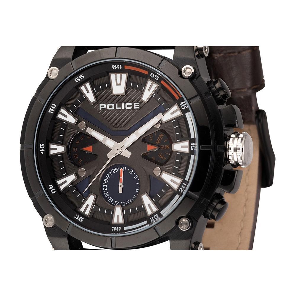 Quarz Uhr Leder Multi Herren Zifferblatt Mit Armband Police QdxoWBrCe