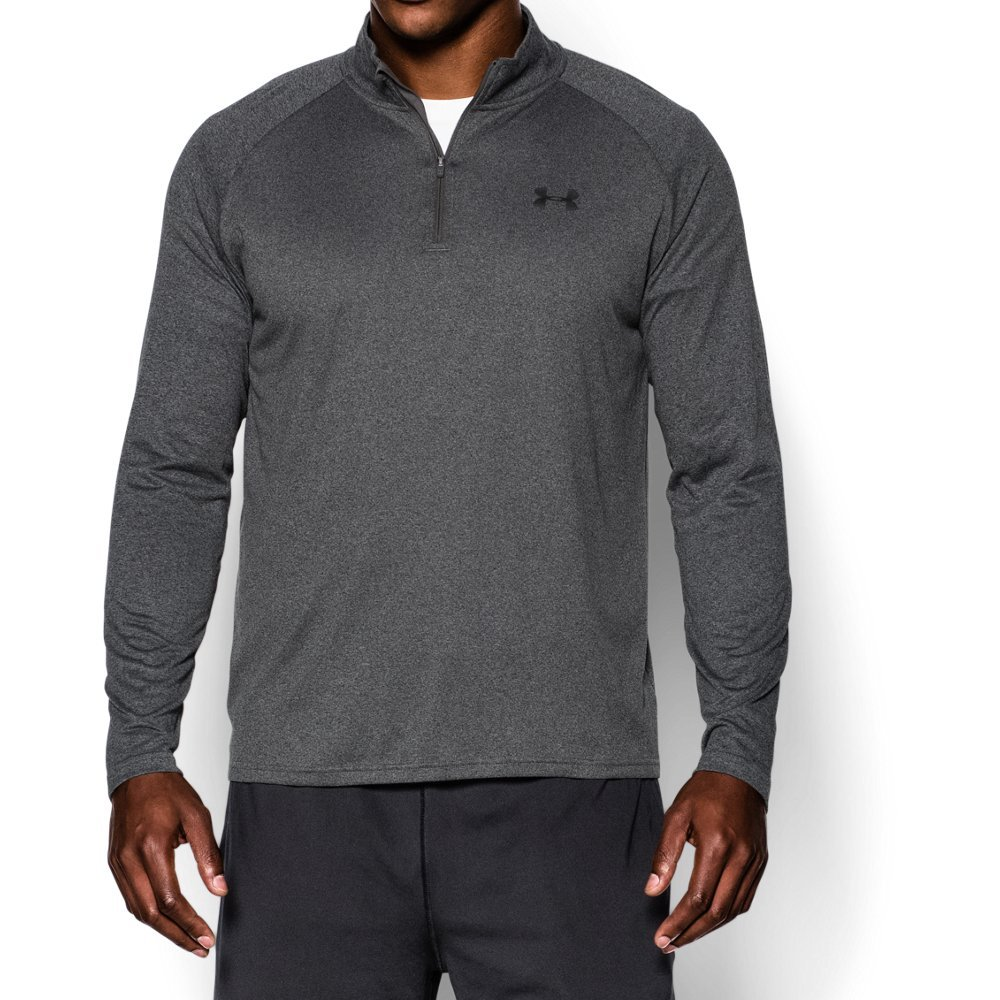 Under Armour Men's Tech ¼ Zip, Carbon Heather (090)/Black, Small by Under Armour