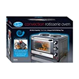 Quest 35370 Benross Convection Rotisserie Oven with Integral Grill/Baking Tray and Double Hob Hot Plates, 26 Litre, 1800 W, Black