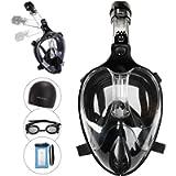 FinaTider Full Face Snorkeling Gear for Adults Anti Fog Anti Leak Snorkel Mask Set Upgraded Safety Breathing System…