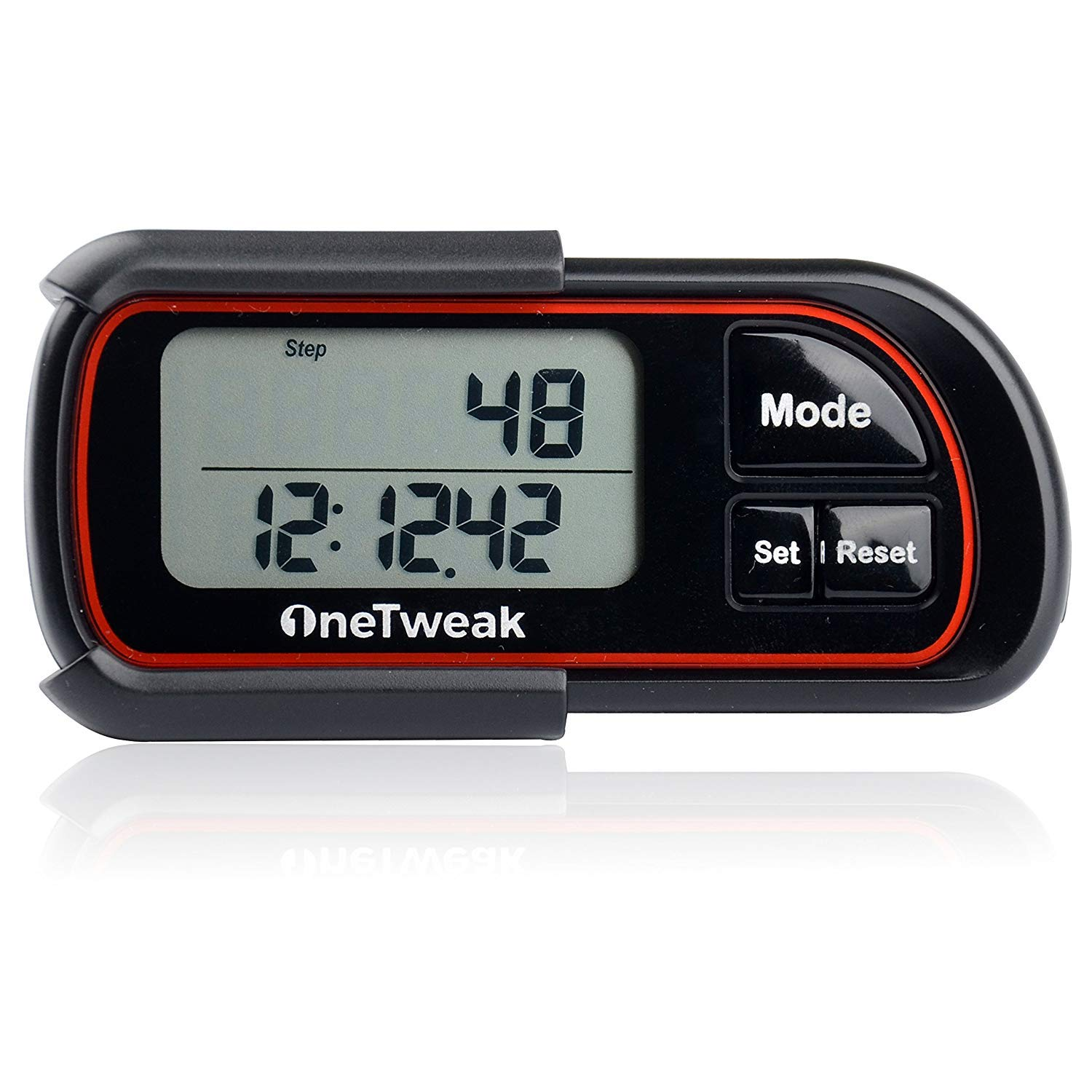 OneTweak New EZ-1 Pedometer for Walking. 3D Tri-Axis Clip-On. Back-to-Basics Step Counter. Simple to Use. Multi-Function. New Pause Function. Perfect Fitness Exercise Tool.
