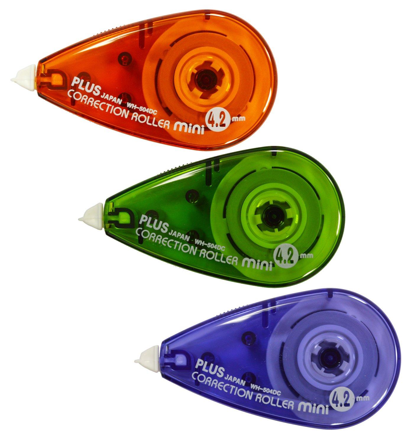 PLUS Japan correttore roller mini 2+1 gratis, 6 m x 4,2 mm Plus Europe GmbH WH-504DC-3P