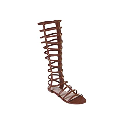 8f34a74a5ad7 Amazon.com  GC Shoes Raise-N-Nuts Gladiator Sandal Brown Women s 8 M US   Sports   Outdoors