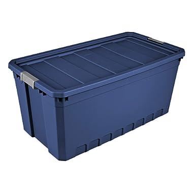 Sterilite 50 Gal./189 L Stacker Tote, Stadium Blue - 3 Pack