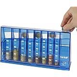 HMF 4710-05 Clasificador de monedas, alcancía para colecta 24 x 5 x 12 cm, azul