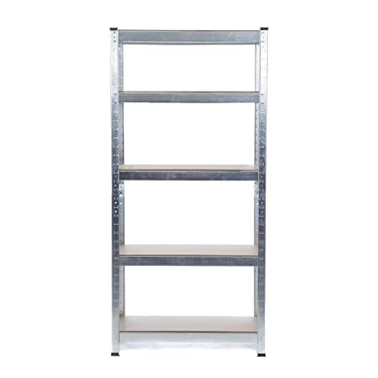 Estantería resistente galvanizada para garaje, 150 kg por estante (5 niveles, 1500 x