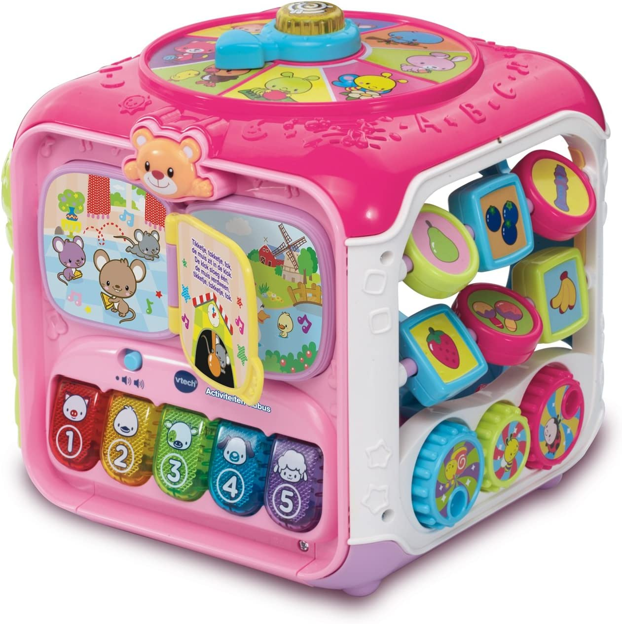VTech Baby Activiteiten Kubus roze - Juegos educativos (Rosa, Chica, 3 año(s), Holandés, De plástico, CE)