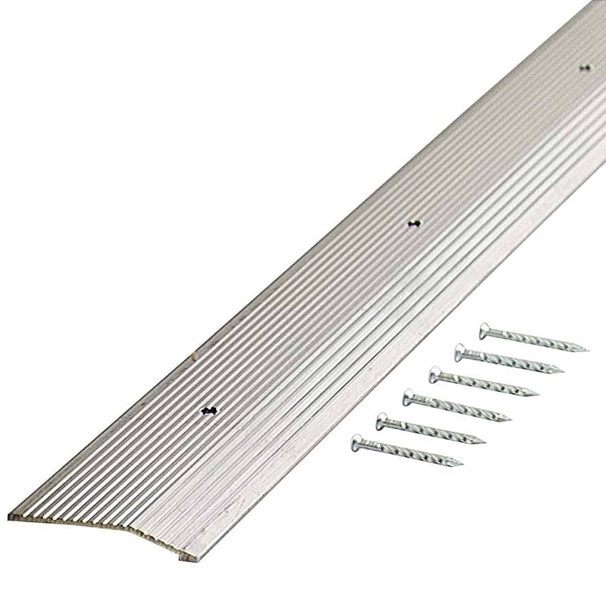 M-D Building Products 78212 Extra Wide Fluted 2-Inch by 36-Inch Carpet Trim, Silver