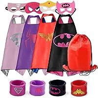 RioRand Dress Up Costumes 4 bandes en satin avec des masques en feutre pour les filles