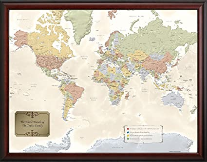 World Traveler Map Amazon.com: Personalized World Traveler Map: Wall Art World Traveler Map