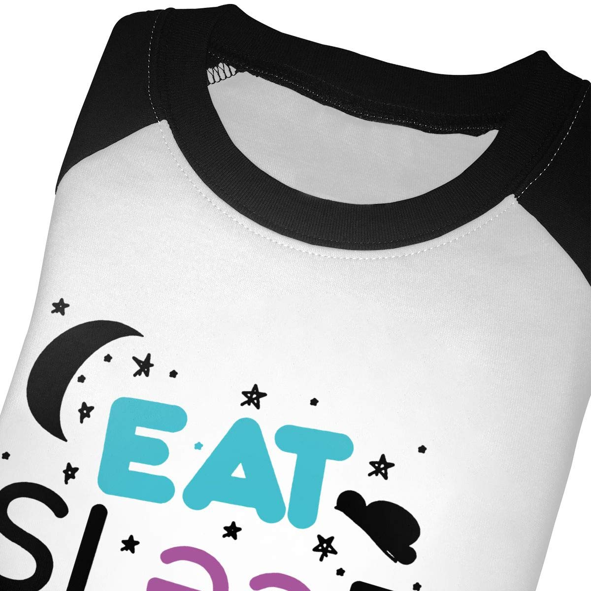 Eat Sleep Rave Repeat Unisex Toddler Baseball Jersey Contrast 3//4 Sleeves Tee