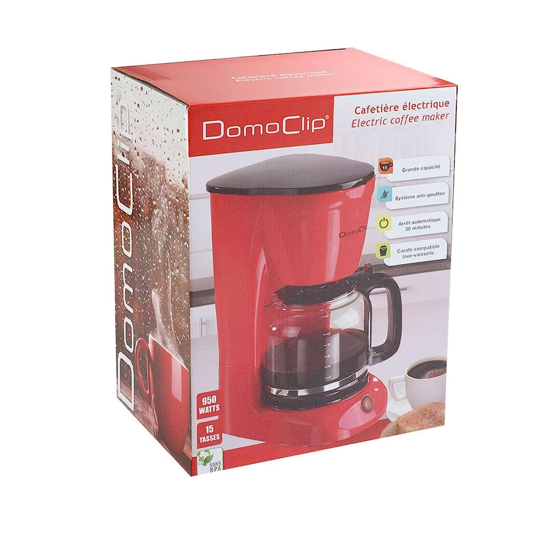 Cafetera con jarra de cristal y filtro permanente (Cafetera para ...