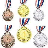 CKANDAY 6 stuks goud zilver brons winner award medaillen, metalen medaillen, prijzen met halsband voor wedstrijden party…