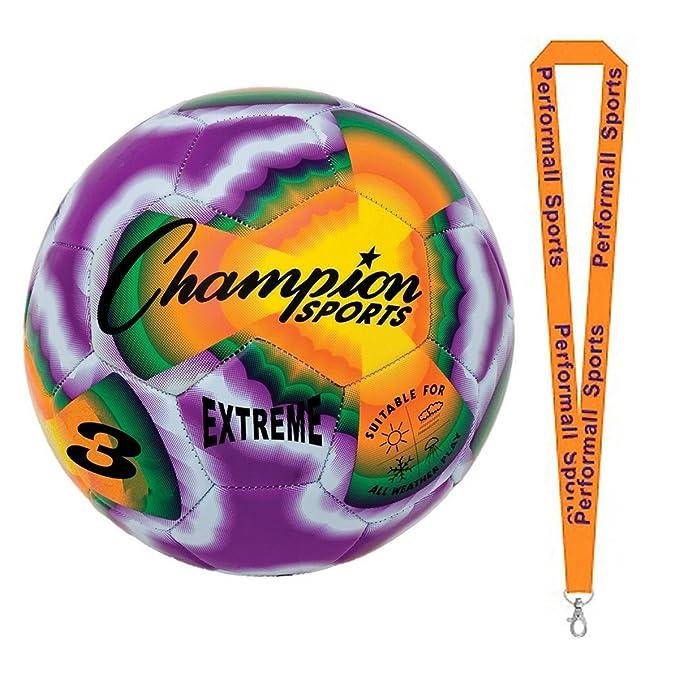 Champion Sports Bundle: Extreme Tie Dye Size 3 balón de fútbol Tie ...
