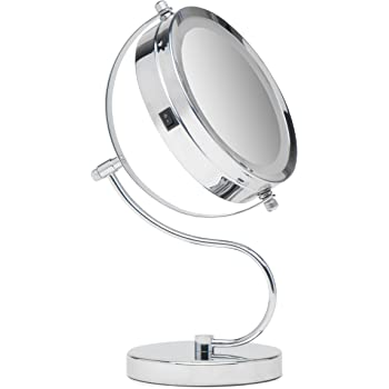 Amazon Com Mirrorvana 7 Inch Dual Sided Magnifying Led