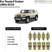DODOFUN Deluxe Interior LED Light for 2006-2014 Toyota FJ Cruiser (6-pc Bulb 6000k)