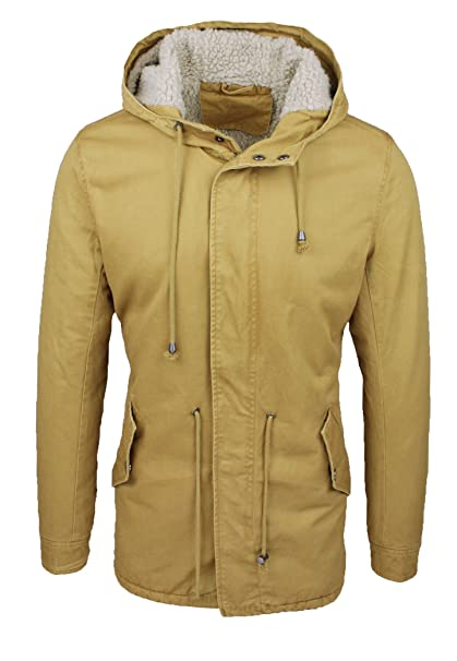 wholesale dealer 90cc9 9992a Giaccone parka uomo giallo slim fit casual giubbotto giacca ...