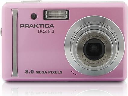 Praktica Dcz 8 3 Digitalkamera 2 7 Zoll Rosa Kamera