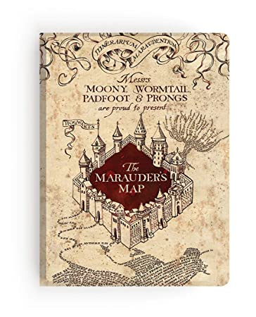 Paper House Productions JL-3000 Harry Potter Marauders Map Softcover Journal Lined Notebook