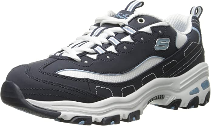 Skechers D'Lites Biggest Fan Sneakers Damen Marineblau/Weiß