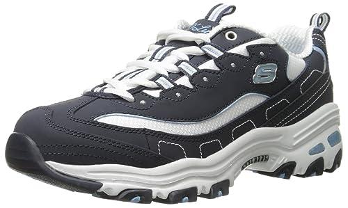 Détails sur Skechers Femmes D' Lites Me Time Basse Chaussures Baskets Noir Blanc Chaussures