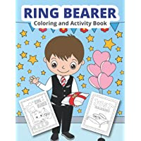 Ring Bearer Coloring and Activity Book: Wedding coloring and activity book for boys (Wedding Coloring for kids)