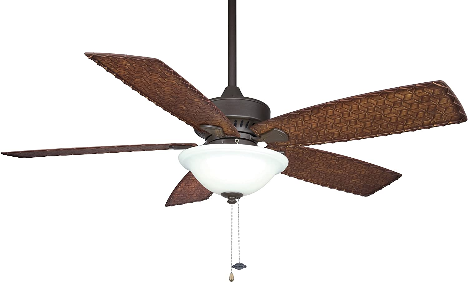 Fanimation FP8011OB-220 220-volt Cancun Fan, Oil Rubbed Bronze 71WMmOZaccLSL1500_