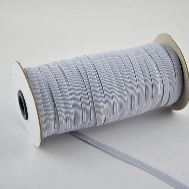 Migavenn 1Roll 7mm 70-Yards Blanc /Élastique Stretch String Corde Cordon Bande pour taille Manches Encolures Shorts /À Coudre