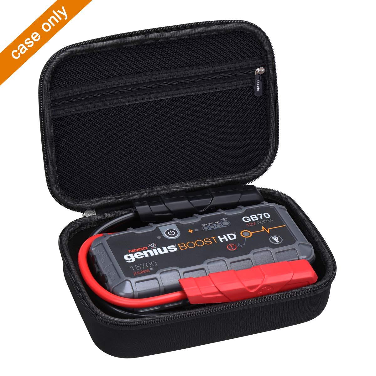 Aproca Hard Protective Case Compatible NOCO Genius Boost HD GB70 2000 Amp 12V UltraSafe Lithium Jump Starter Black-New