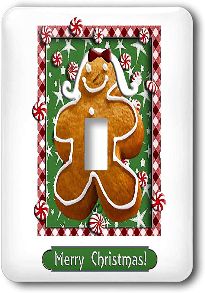 3drose Lsp 37091 1 Gingerbread Girl Merry Christmas Light Switch Cover Wall Plates Amazon Com