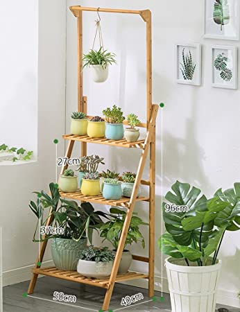 Planter Ladder Display Shelf Garden Rack Home Garden Patio Decor Display  Stand Flower Ladder Rack 3