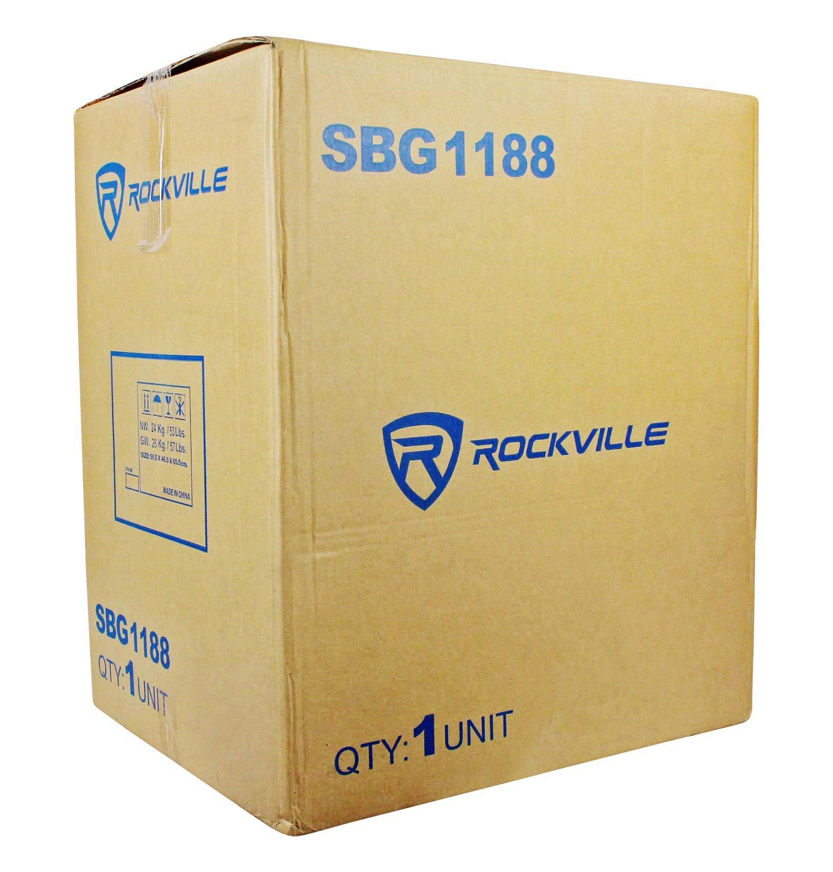 (2) New Rockville SBG1188 18'' 2000 Watt Passive Pro DJ Subwoofers Subs