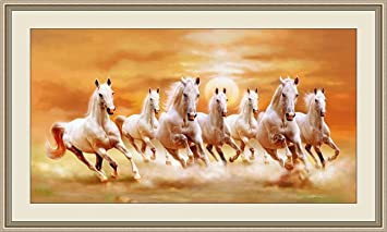 Shine India 7 Horse In Right Direction Painting As Per Vastu With